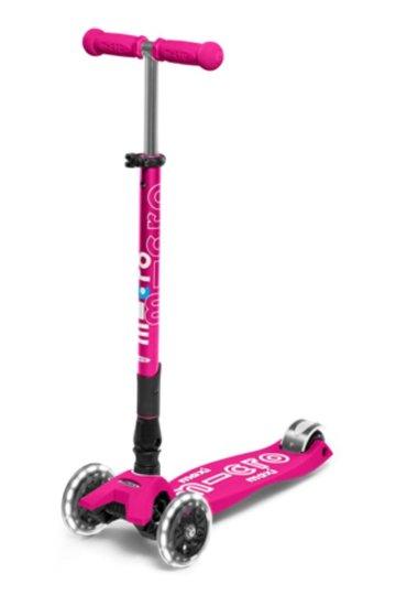 Maxi Deluxe Rosa Chicle Plegable LED